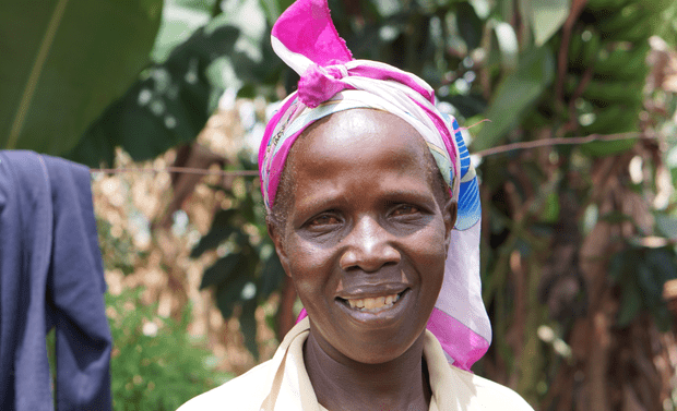 African woman smiling