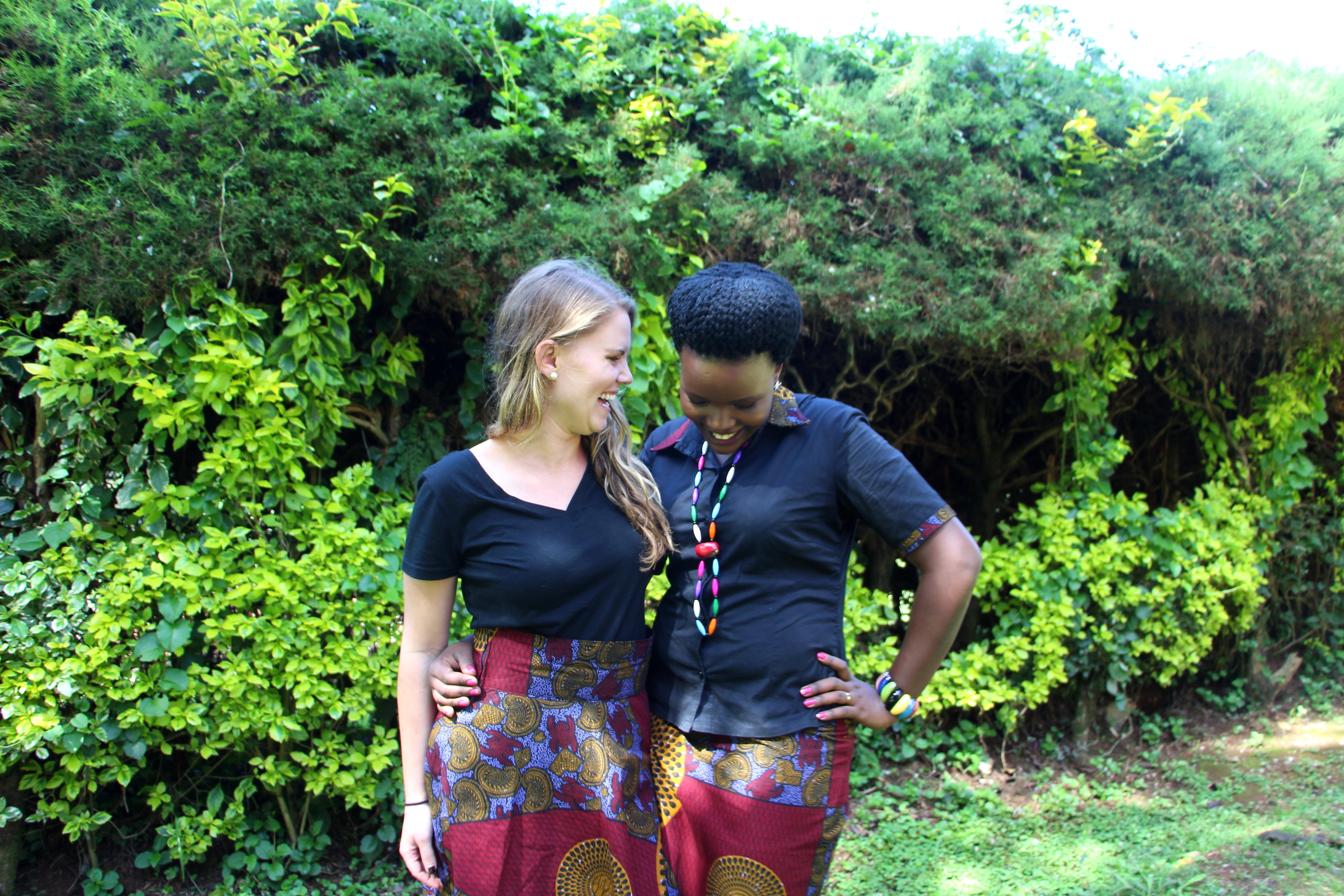 Heidi Graves andCissy Nakayimba laughing
