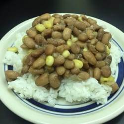 plate of rice and beans