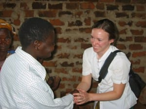 Kiva Co-Founder Jessica Jackley and an African man