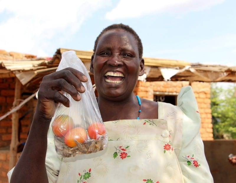 ApoplotMarta holding up tomatoes