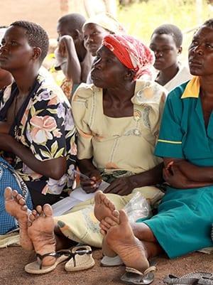 African women listening