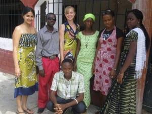 Celeste Brubaker and Village Enterprise field staff