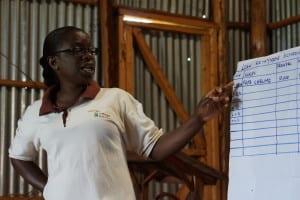 a Village Enterprise business mentor teaching