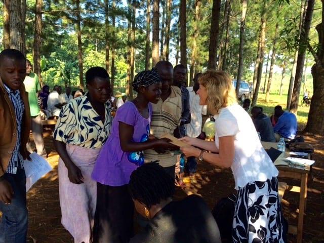 Christine Rose meeting Ugandan female business owners