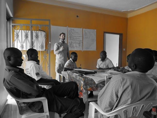 Village Enterprise Senior Fellow, Philip Arscott conducts a training