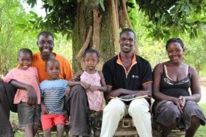 Emukajo Gilbert and his familiy