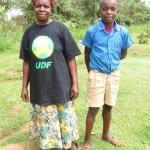 Jane Arara and her grade 6 son.