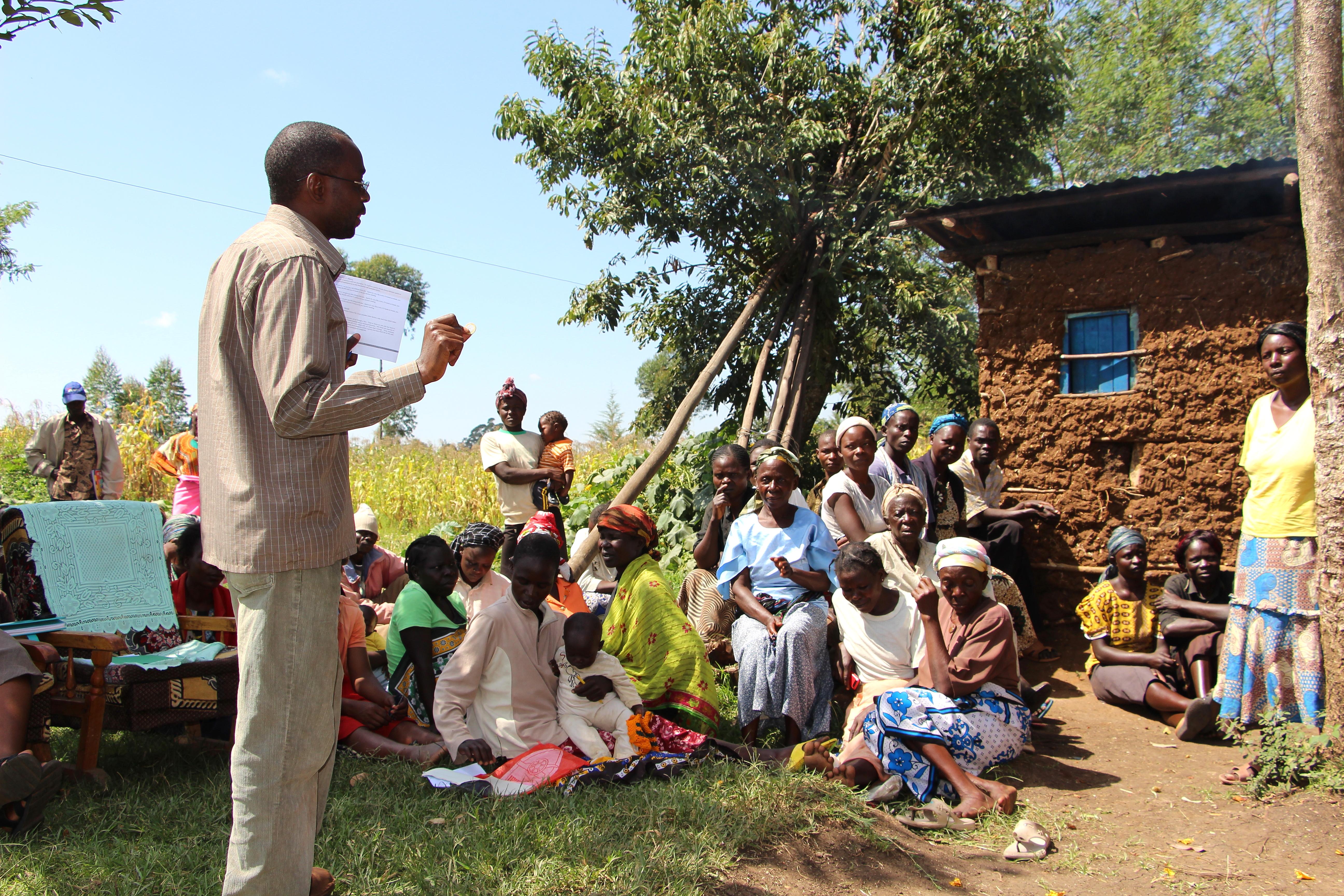 Village Enterprise business mentor teaches a group of women
