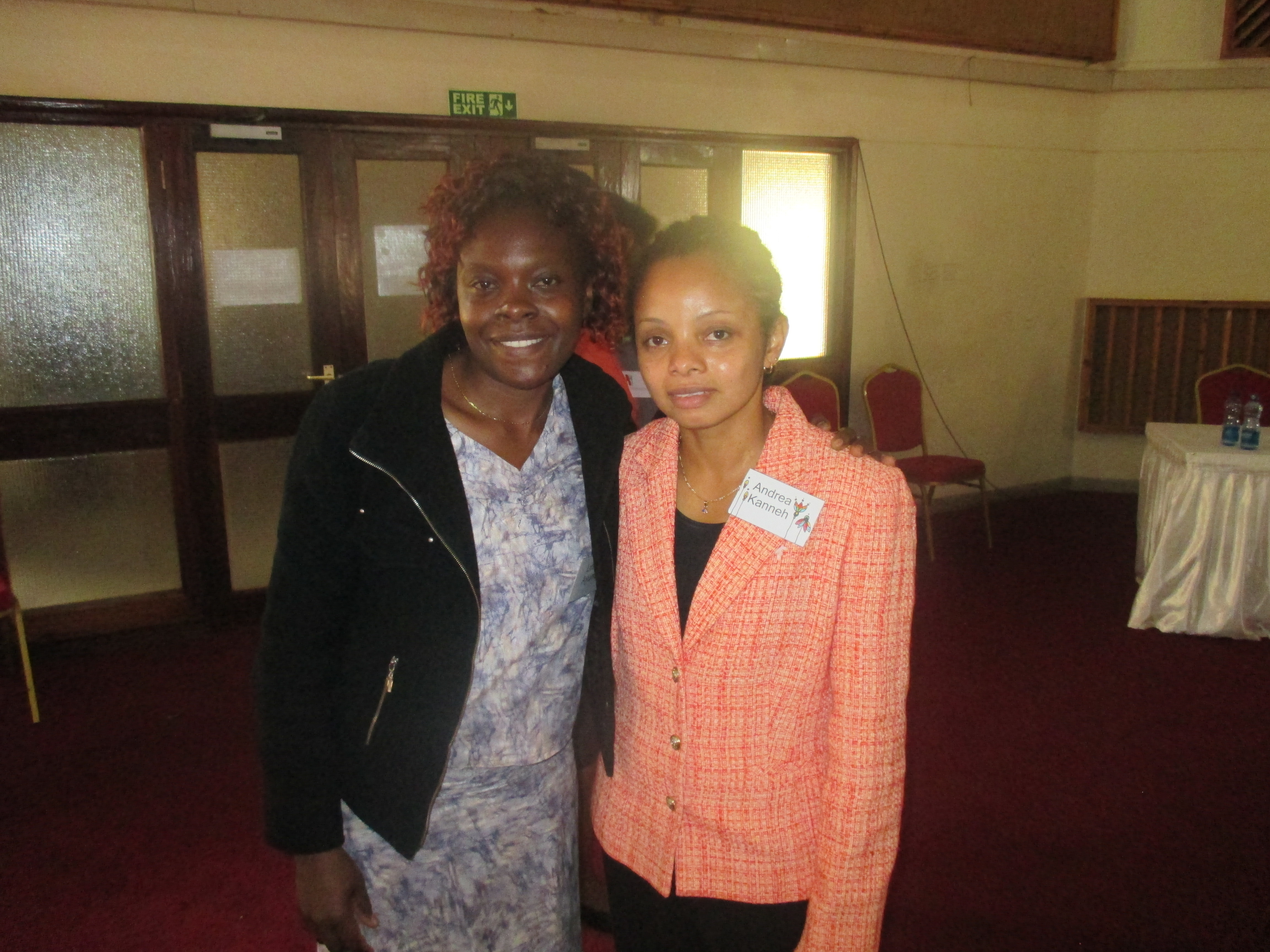 Linnet Ayuma and another participant at the Global Women's Leadership Network workshop