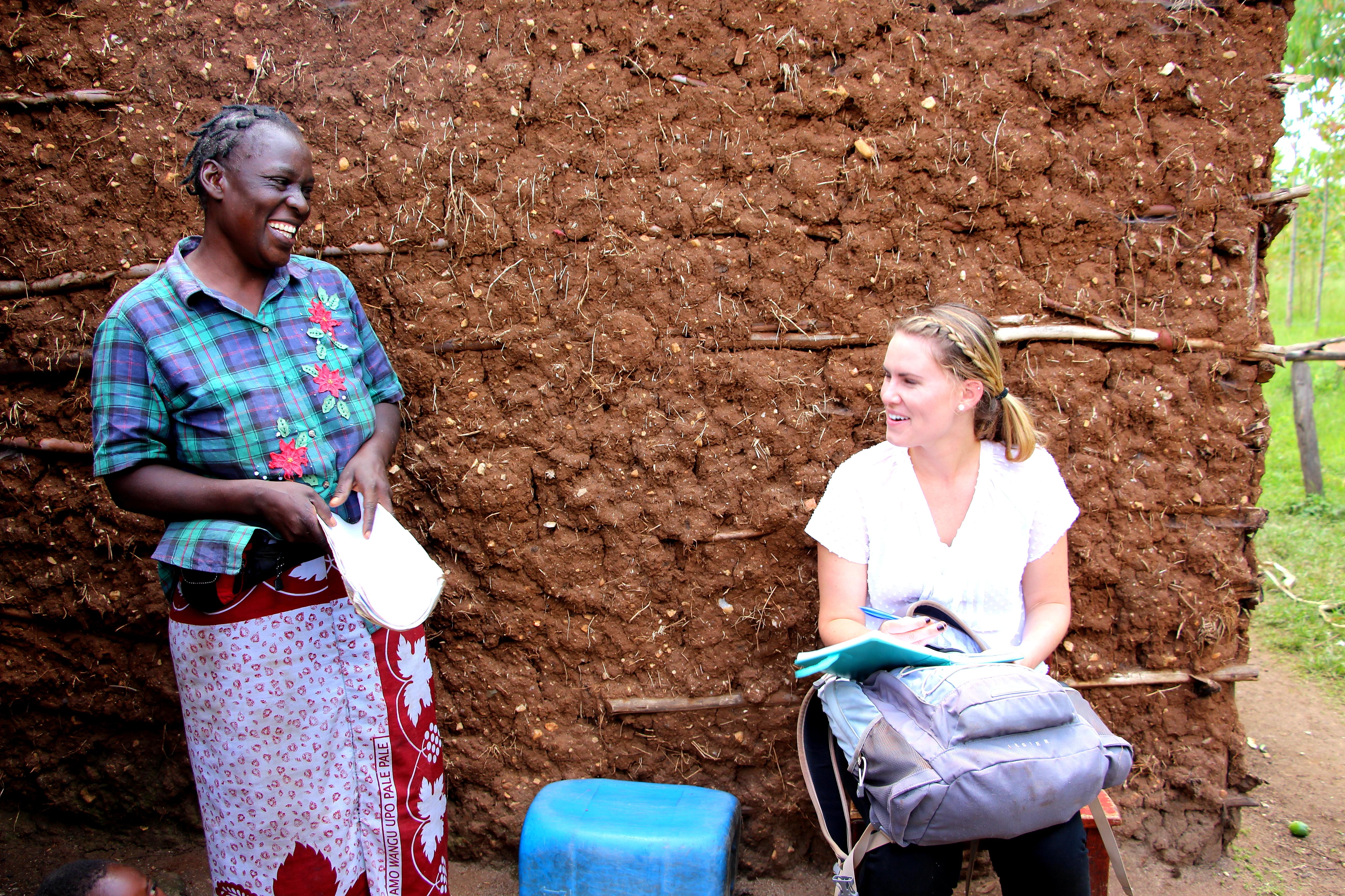 Heidi Graves interviewing Mary Nabwera in Sabwani, Kenya.