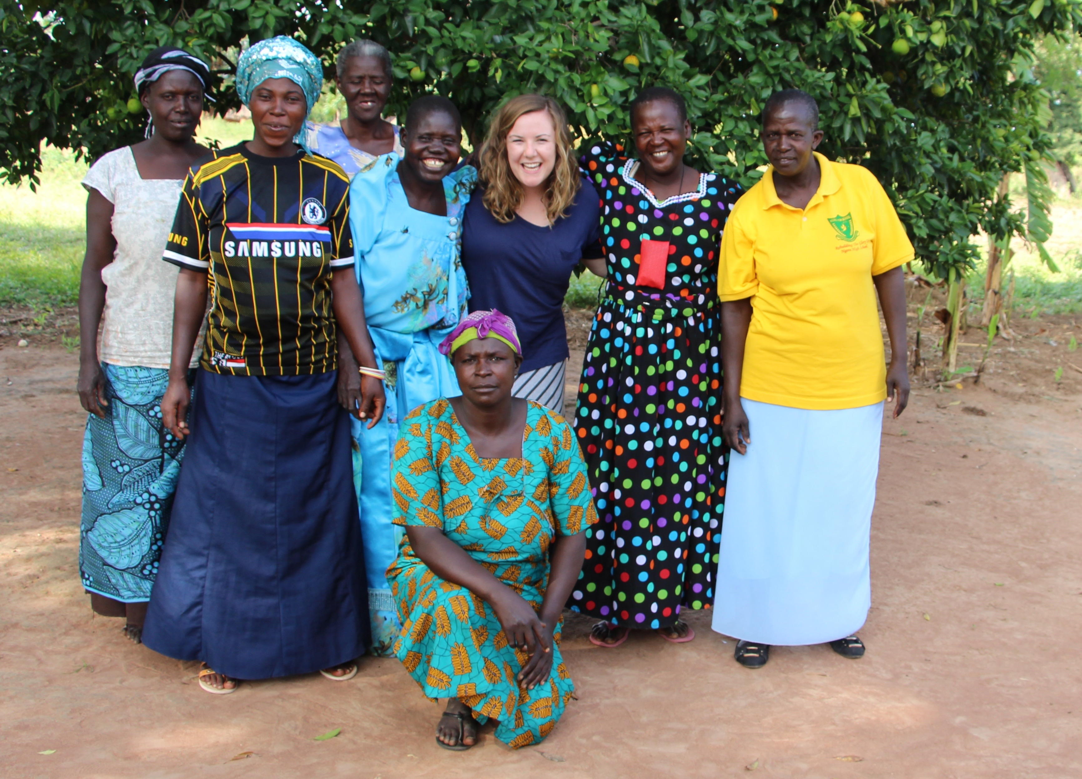 Hannah McCandless and Village Enterprise female business owners