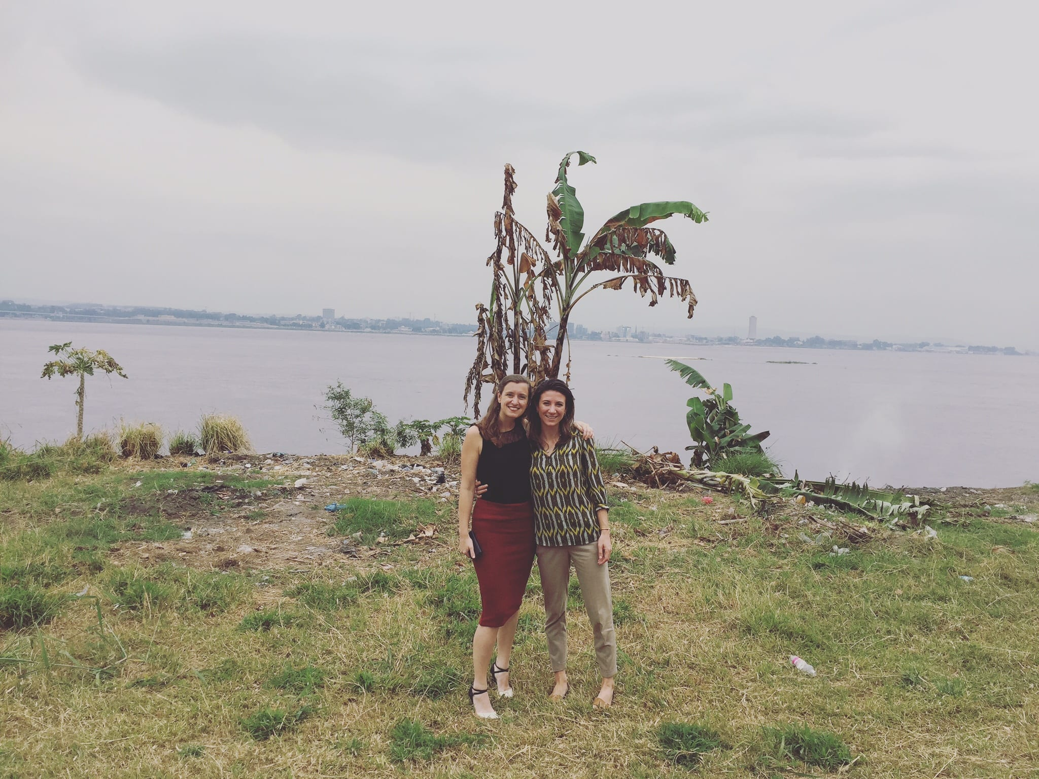 Liz Corbishley and Simone in Kinshasa, Democratic Republic of Congo