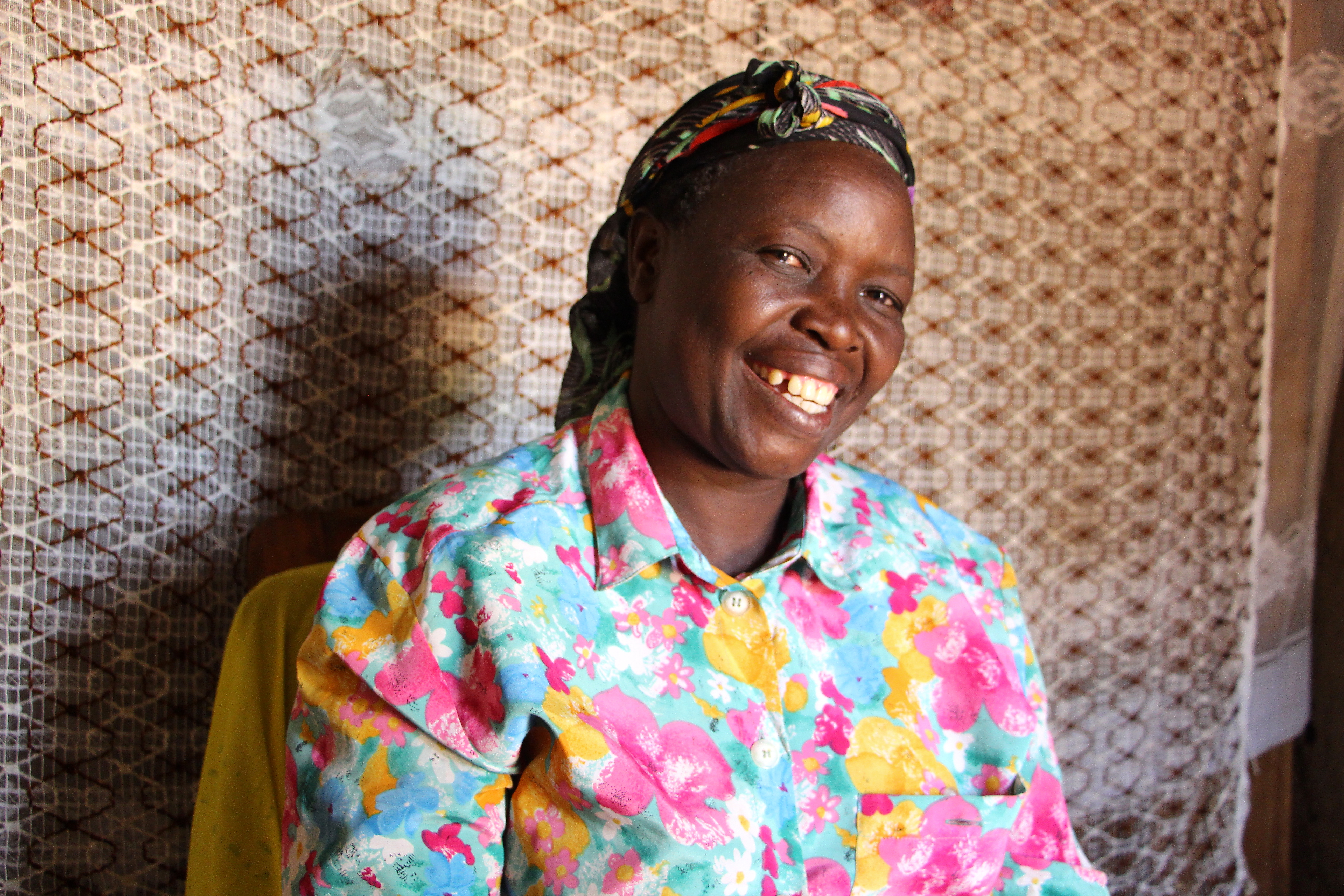 Catherine Mkangula, Village Enterprise business owner in her home in Chukura, Kenya.