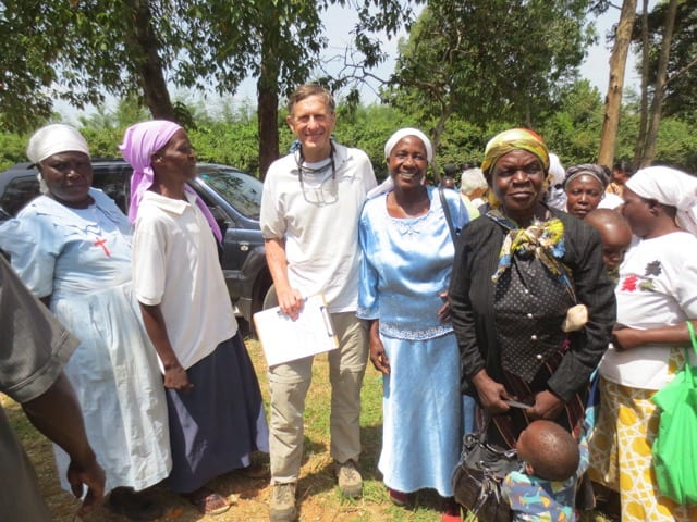 A member of 3rd Creek Foundation and a group of Village Enteprise female business owners