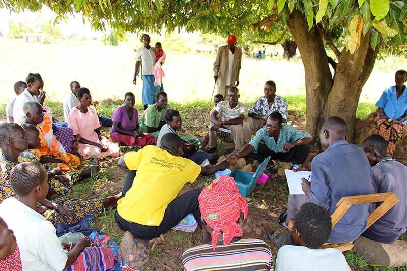 A Village Enterprise Business Savings Group collects weekly contributions.