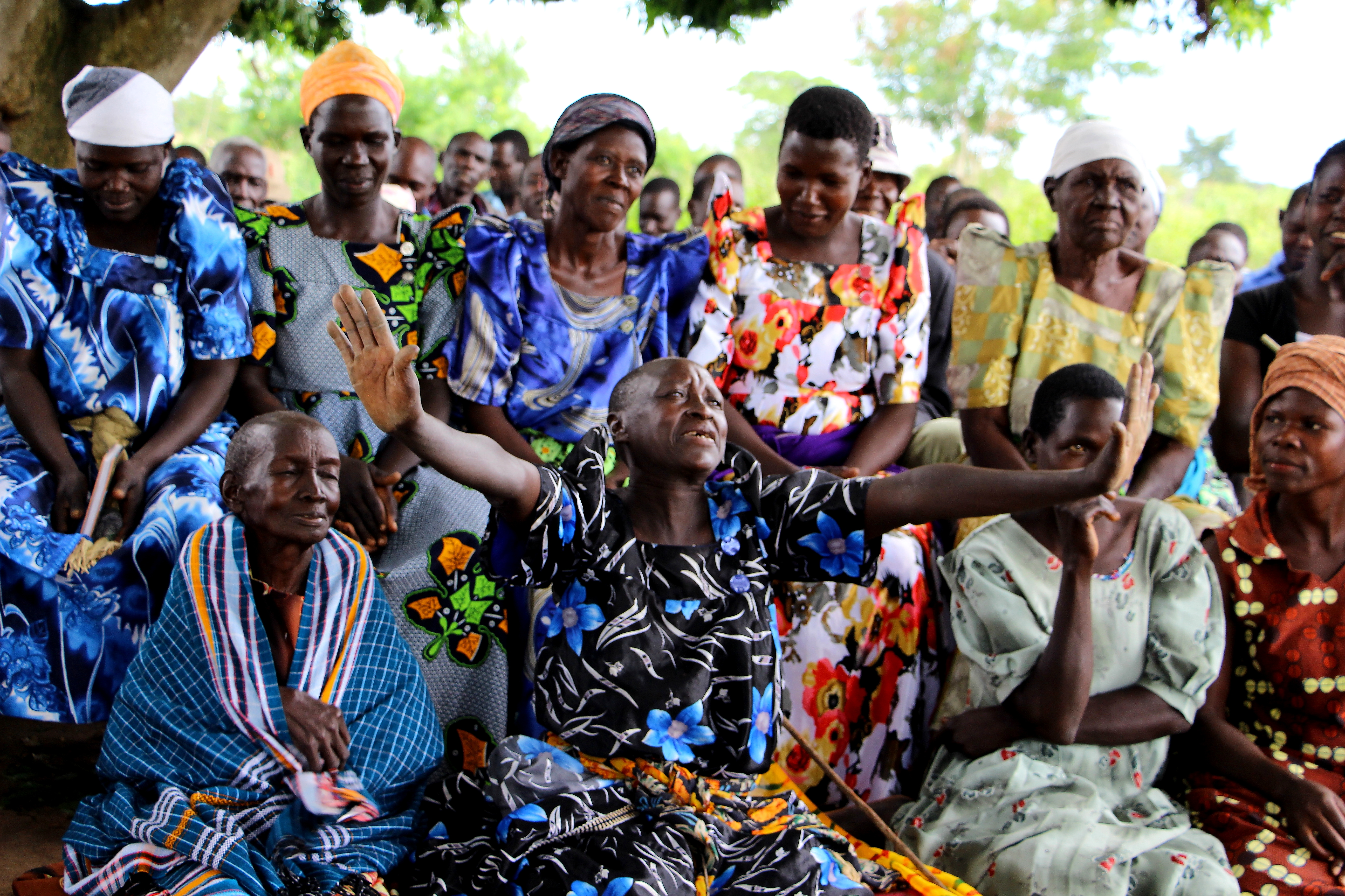 Group of older African women