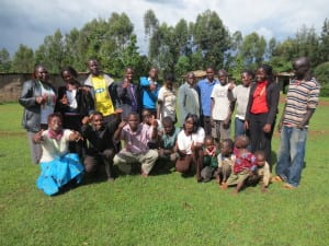 A group of Village Enterprise business owners in Sitatunga village, Kenay