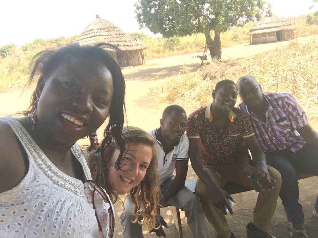 Five members of the Village Enterprise staff in Kitgum, Kenya