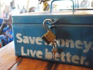 Village Enterprise savings box