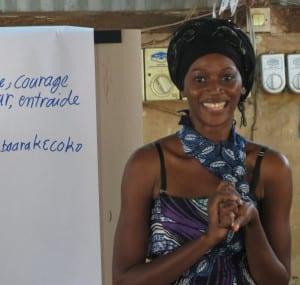 Sophie, Village Enterprise business mentor, training in Bamako