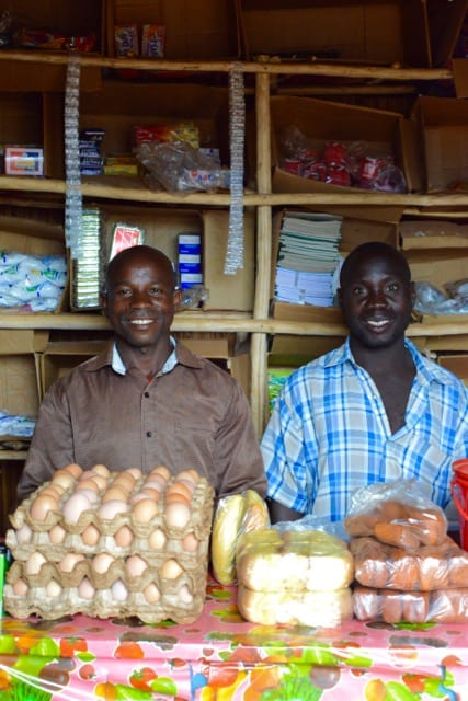 two African shop owners