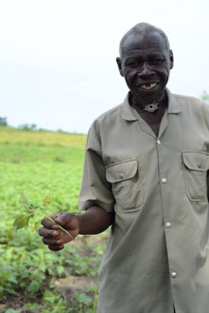 elderly African man smiling