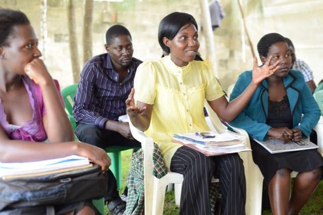 Village Enteprise business mentors learning